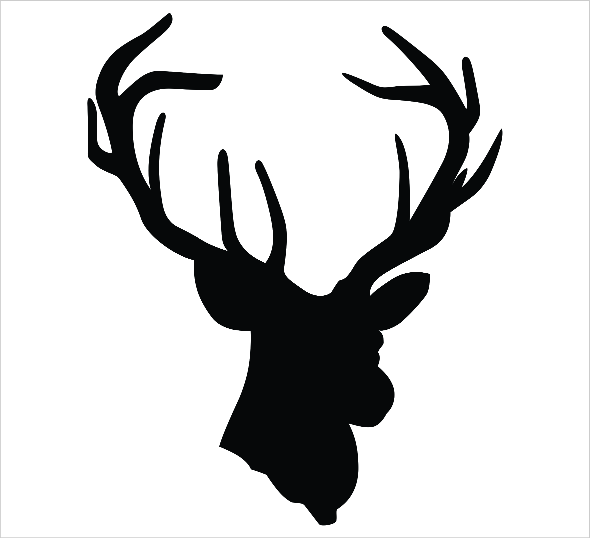 Buck logo clip art. Free black and white clipart images deer hunting