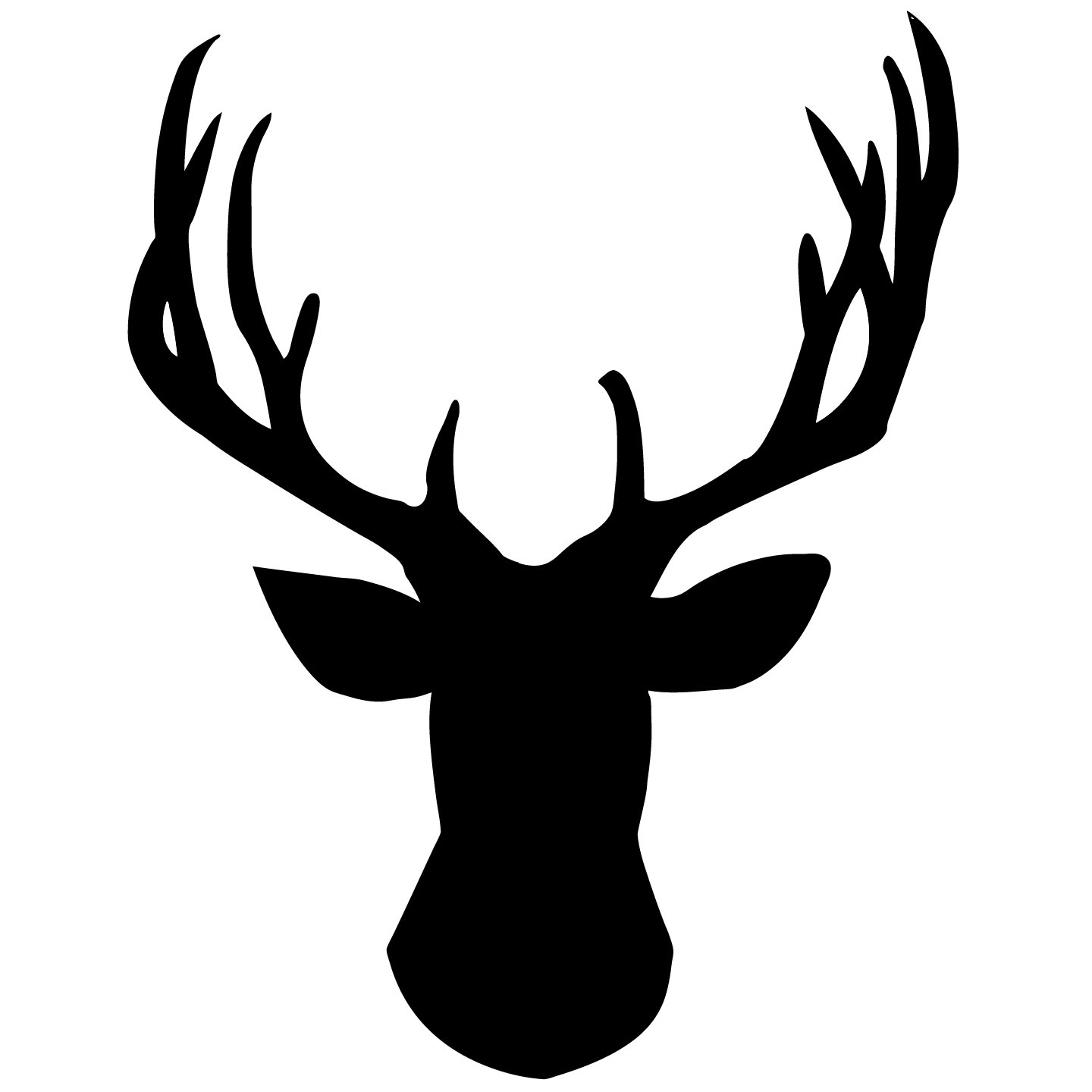 Deer antlers clipart black and white svg free library Free Deer Logo, Download Free Clip Art, Free Clip Art on Clipart Library svg free library
