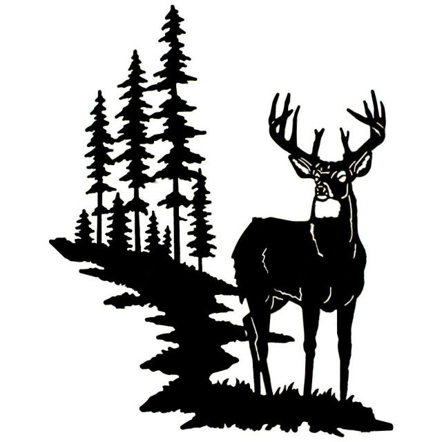 Buck with bow clipart graphic library stock 1 BOW HUNTER BUCK DEER SILHOUETTE VINYL WINDOW DECAL - Free Clipart graphic library stock