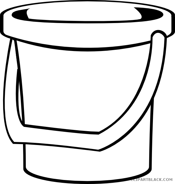 Bucket of fish clipart picture free stock Bucket Outline Clipart - ClipartBlack.com picture free stock
