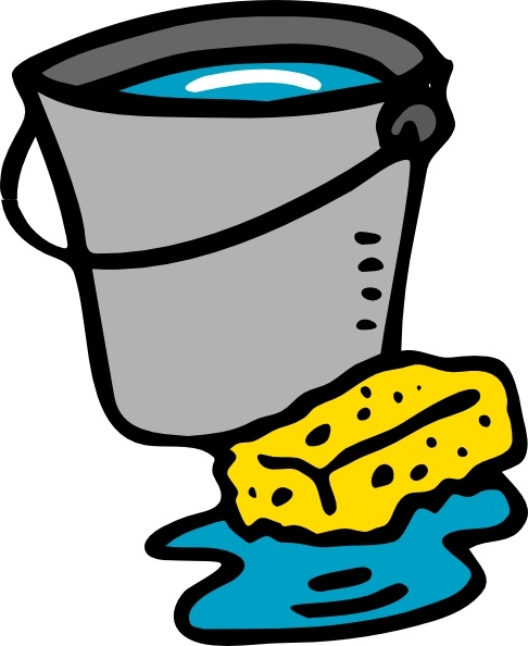 Bucket of water clipart graphic transparent library Cleaning Bucket Sponge Water clip art Free vector in Open office ... graphic transparent library