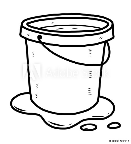Bucket of water clipart black and white clip art free library bucket of water / cartoon vector and illustration, black and white ... clip art free library