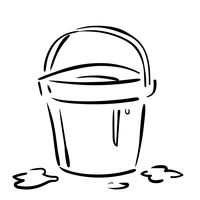 Bucket of water clipart black and white graphic stock Icon Icons Transparent Isolated Black And White Line Art Outline ... graphic stock