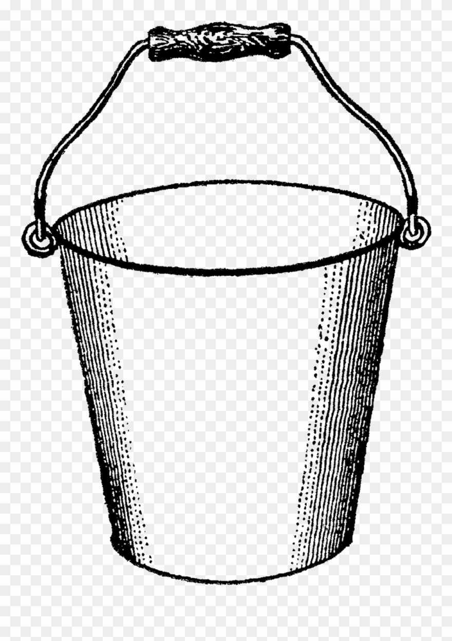 Tin bucket of water clipart