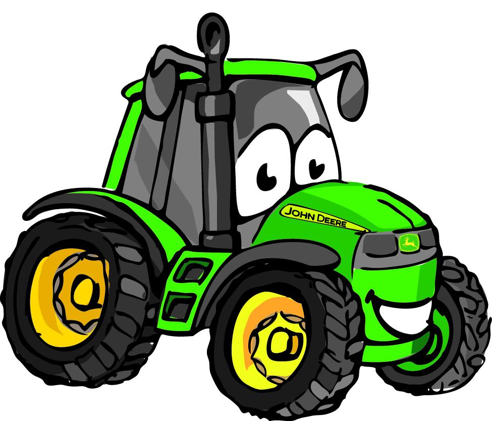 Bucket of water john deere tractor clipart funny