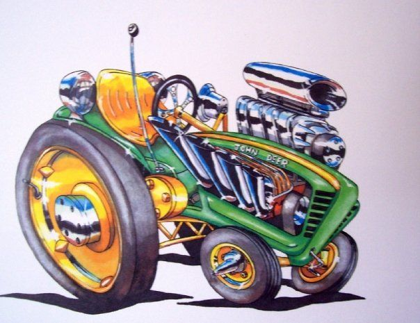 Bucket up on a john deere tractor clipart funny image royalty free library ratster art hot rod john deere tractor | Ratster Art (Ratster ... image royalty free library