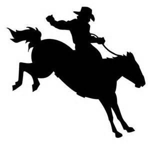 Trail horse cowboy and cowboy drawing clipart