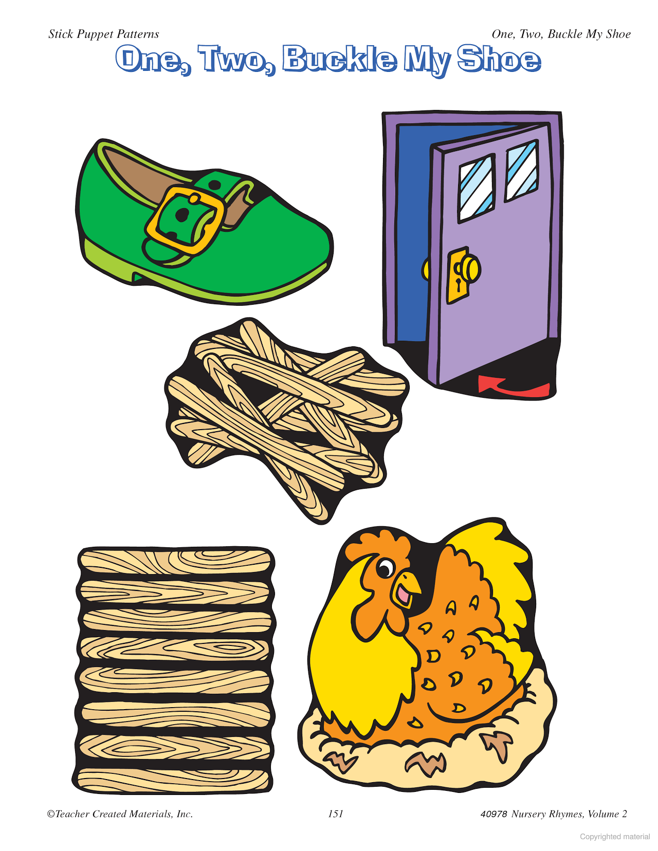 One two buckle my shoe clipart image royalty free Learning Center Activities for \
