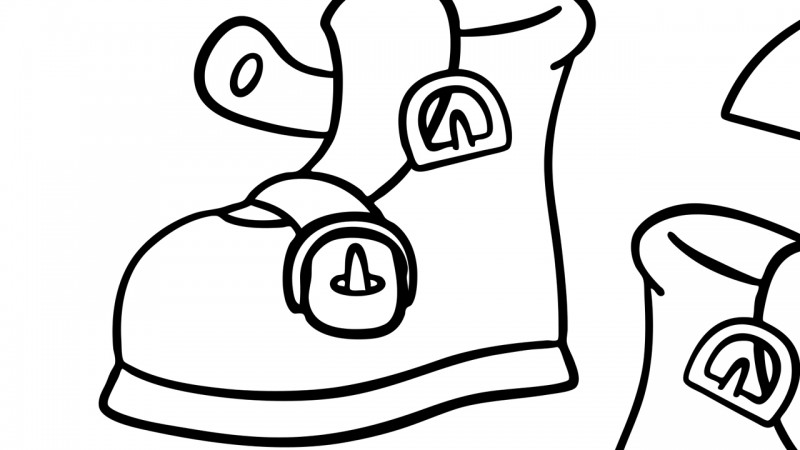 Buckle my shoe clipart graphic free download One, Two, Buckle My Shoe - Coloring Page - Mother Goose Club graphic free download