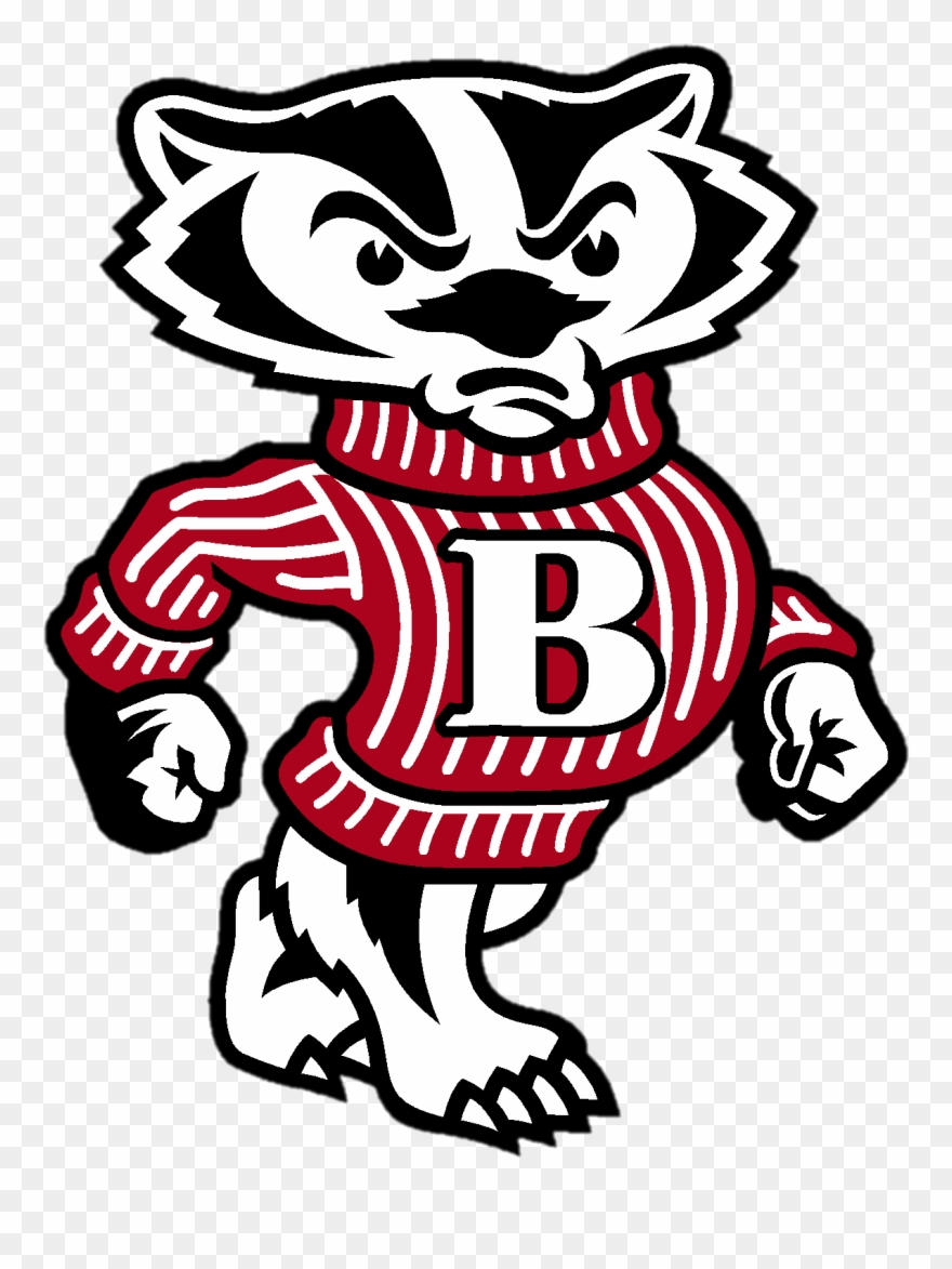 Bucky badger clipart vector black and white Bucky Badger Clipart (#993577) - PinClipart vector black and white