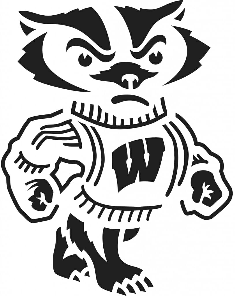 Bucky badger clipart graphic freeuse library Some Bucky-themed pumpkin carving designs for you graphic freeuse library