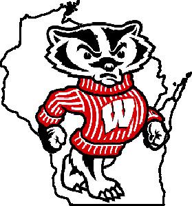 Bucky badger clipart vector download Free Wisconsin Football Cliparts, Download Free Clip Art, Free Clip ... vector download