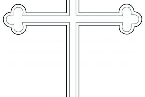 Budded cross clipart svg black and white Budded Cross » Clipart Portal svg black and white