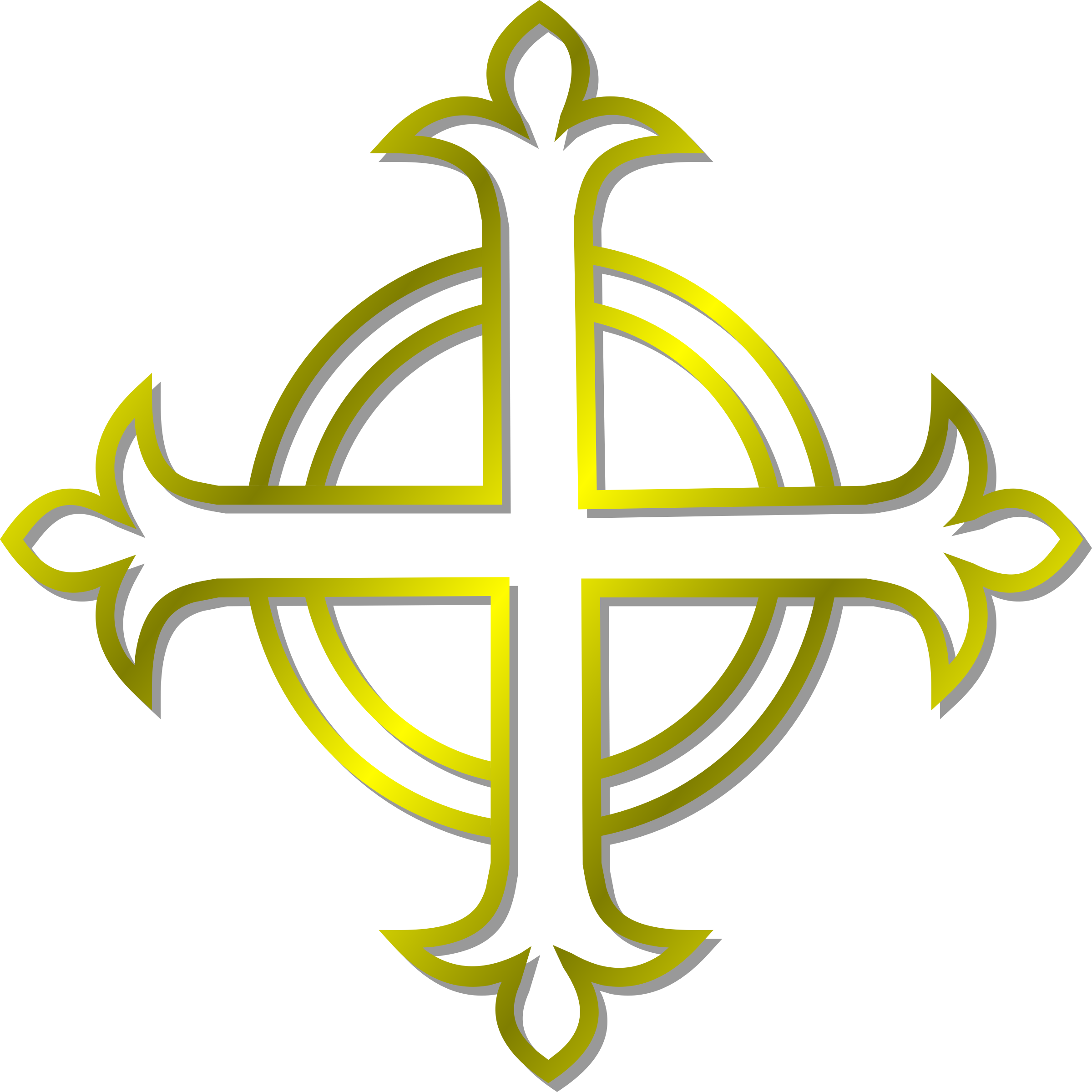 Budded cross clipart picture free library Gold Budded Cross Vector Clipart image - Free stock photo - Public ... picture free library