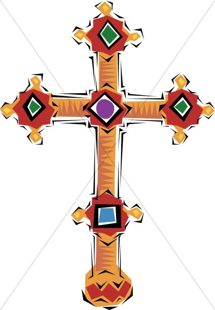 Budded cross clipart svg freeuse download Spanish Jeweled Cross   Cross Clipart svg freeuse download