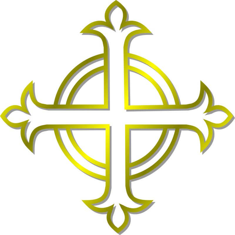 Budded cross clipart image library stock Gold Budded Cross Vector Clipart image - Free stock photo - Public ... image library stock