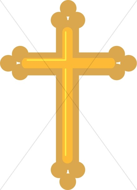 Budded cross clipart picture free download Gold Budded Cross   Cross Clipart picture free download