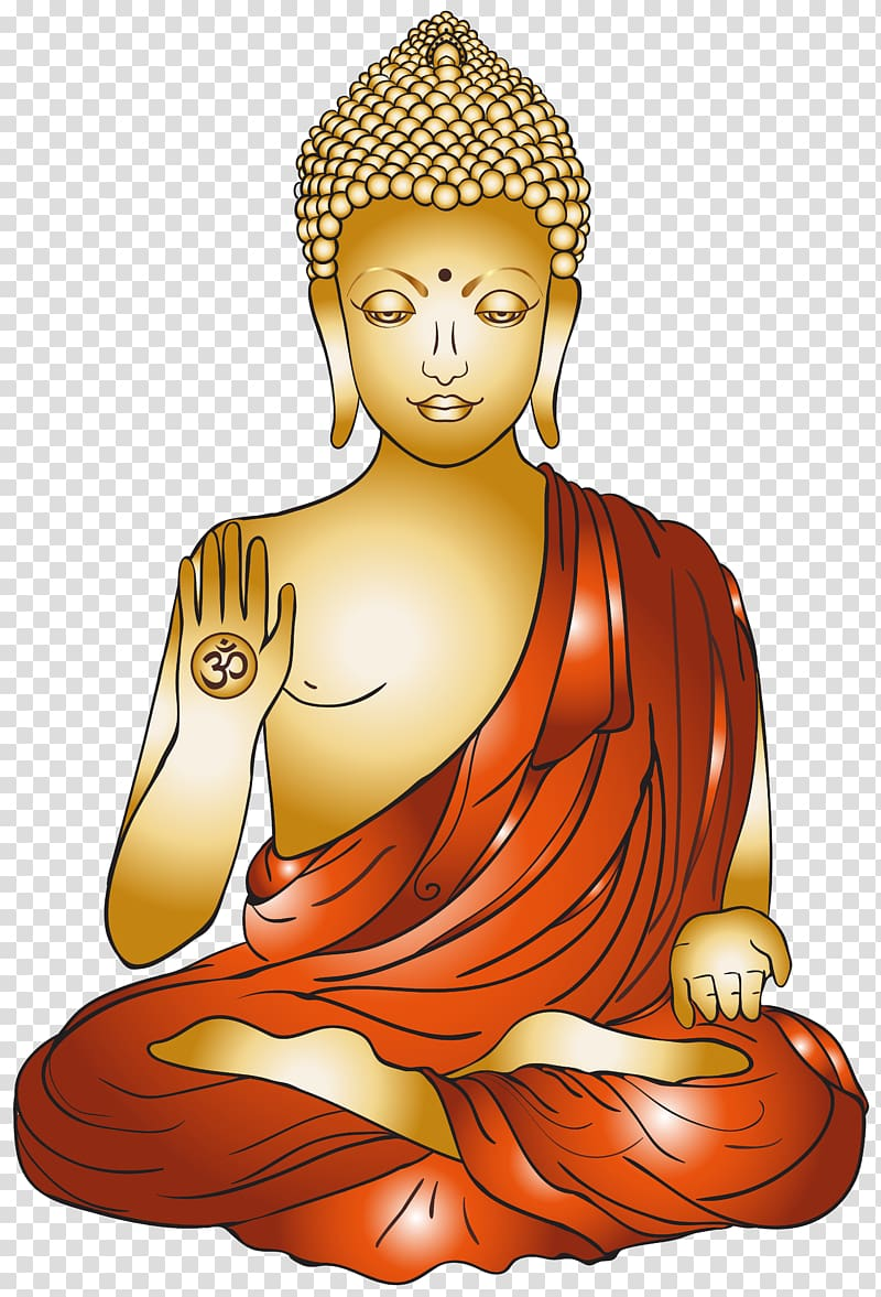 Buddha clipart gold clipart black and white download Golden Buddha Buddhism Buddharupa , Buddhism transparent background ... clipart black and white download