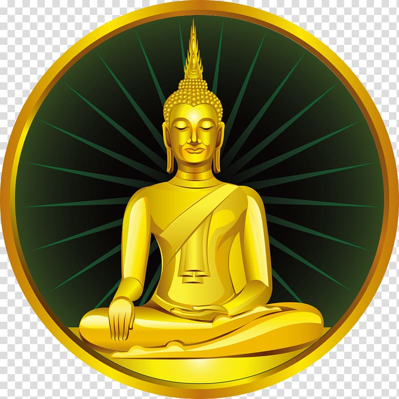 Buddha clipart gold picture black and white stock Buddha illustration, Golden Buddha Gautama Buddha Buddhahood Buddha ... picture black and white stock