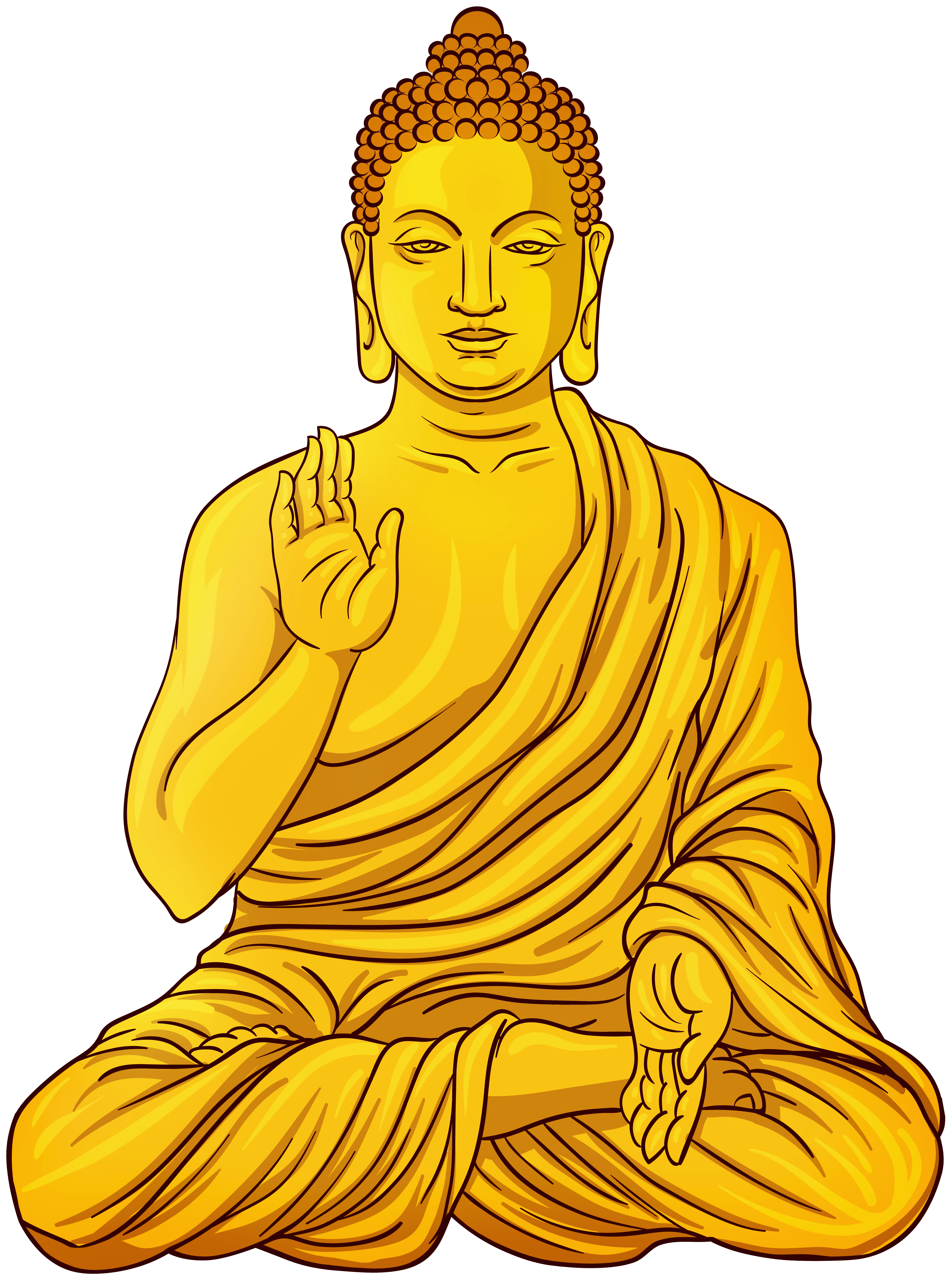 Buddha clipart gold clip art freeuse download Gold Buddha Statue PNG Clip Art - Best WEB Clipart clip art freeuse download