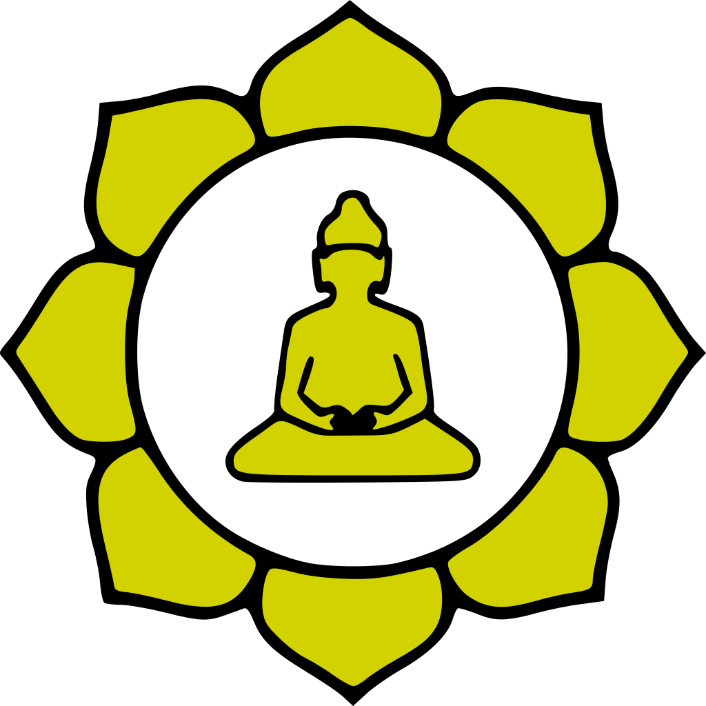 Buddha clipart lotuscolor graphic royalty free library File:Buddha-flower-color.svg - Wikimedia Commons graphic royalty free library