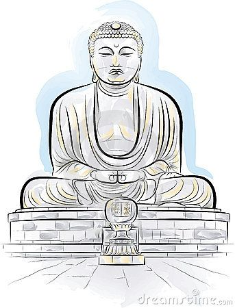 Buddha vector clipart png download Drawing color giant Buddha monument in Kamakura | I heart cartooning ... png download