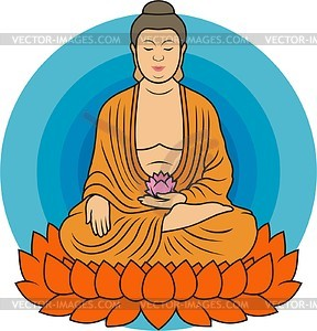 Buddha vector clipart image black and white download Buddha - vector clipart image black and white download