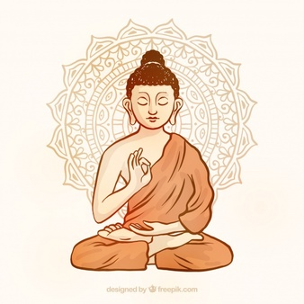 Buddha vector clipart vector black and white Buddhism Vectors, Photos and PSD files | Free Download vector black and white