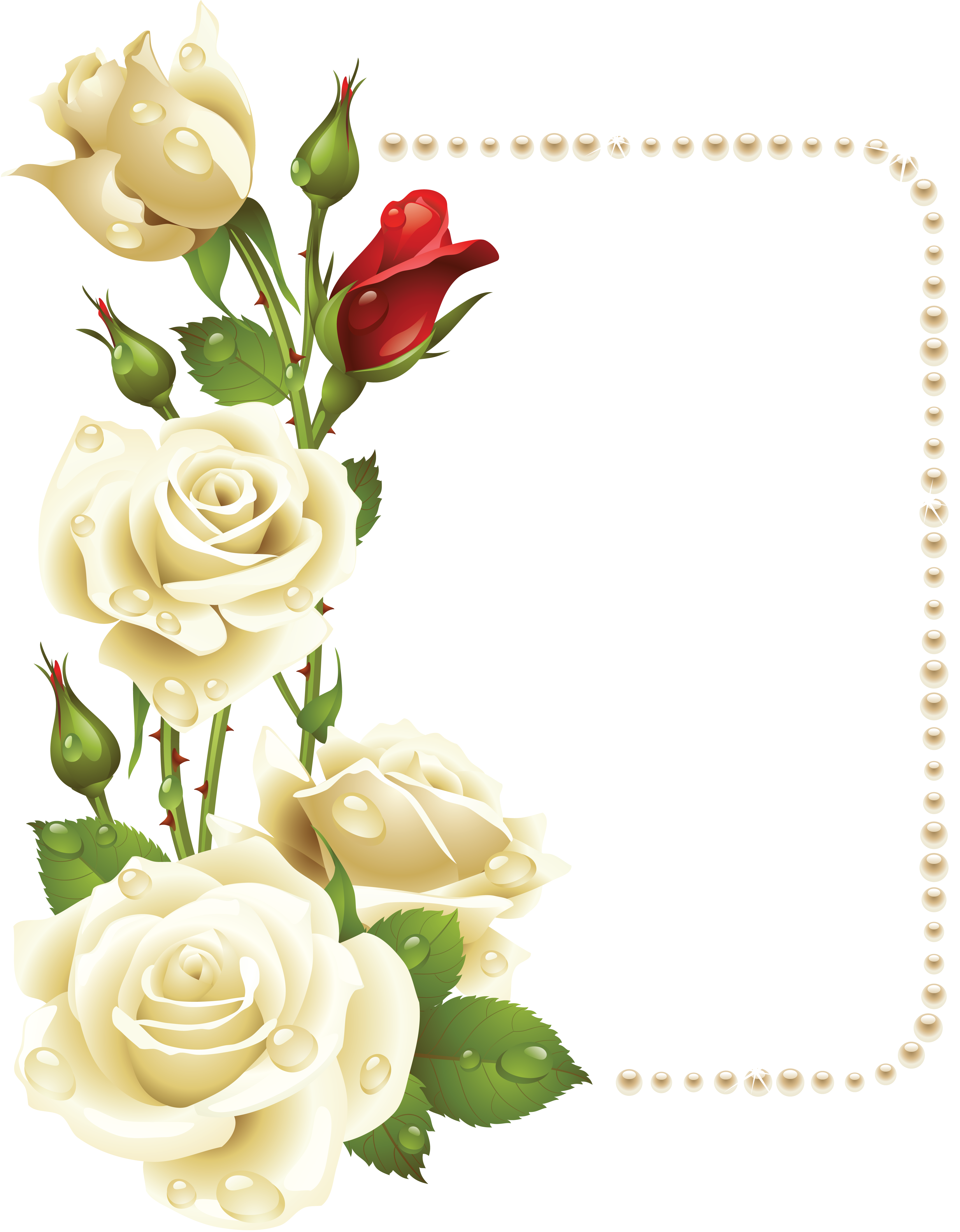 Budding flower clipart svg library Pin by Людмила on рамки | Pinterest | White roses and Pearls svg library