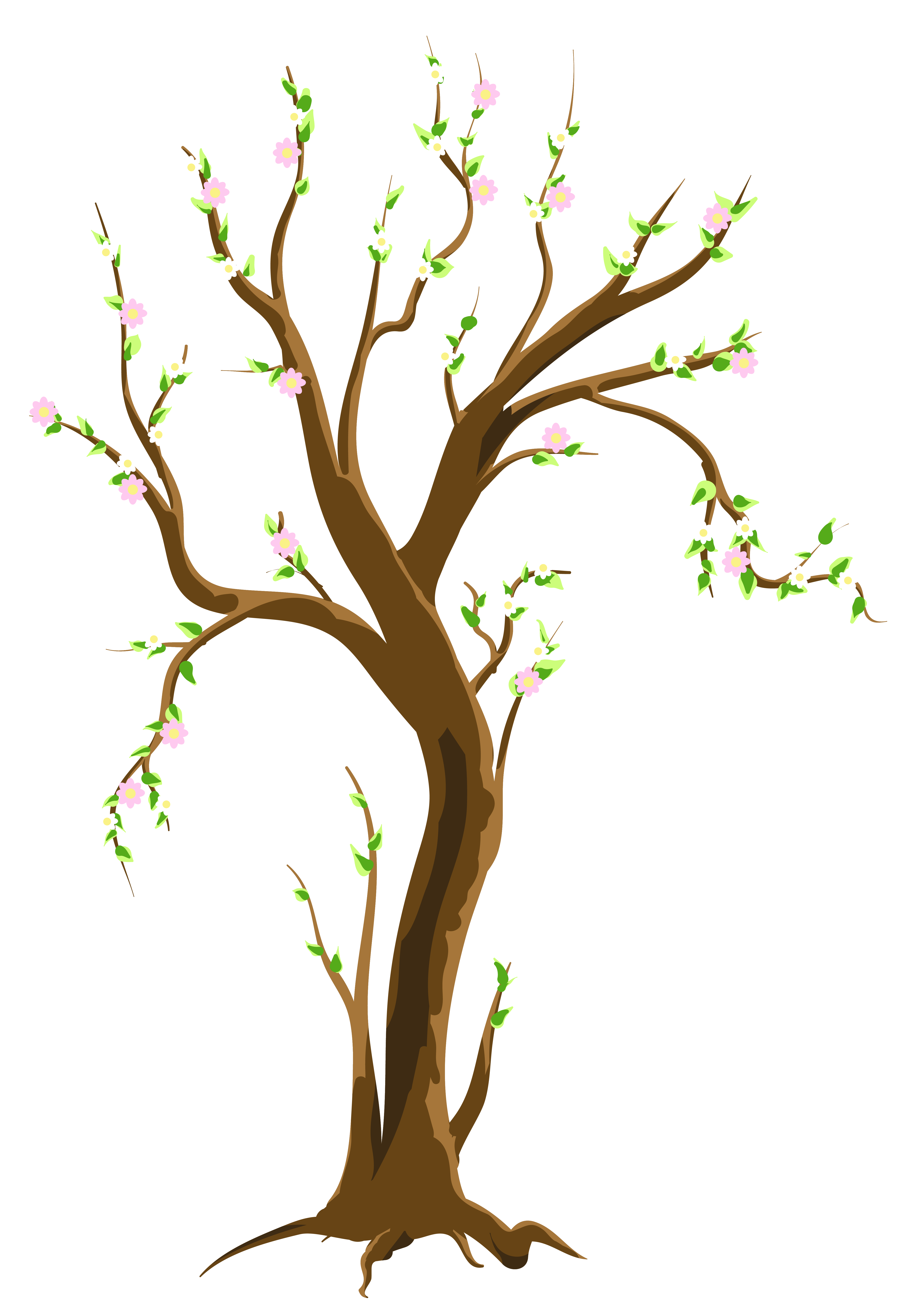 Budding flower clipart clipart black and white stock Spring Tree PNG Clipart Picture | Gallery Yopriceville - High ... clipart black and white stock