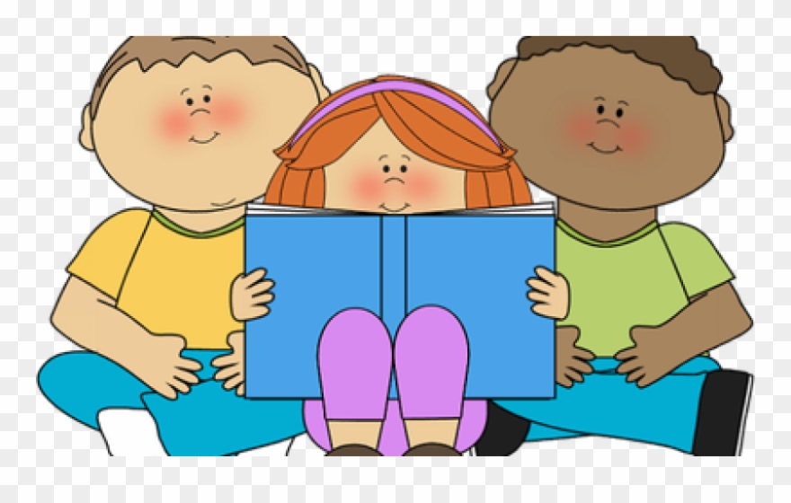Buddy Class Reading - Children Reading Their Work Clipart (#618270 ... png library library
