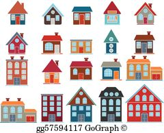 Buildngs clipart banner library library Buildings Clip Art - Royalty Free - GoGraph banner library library