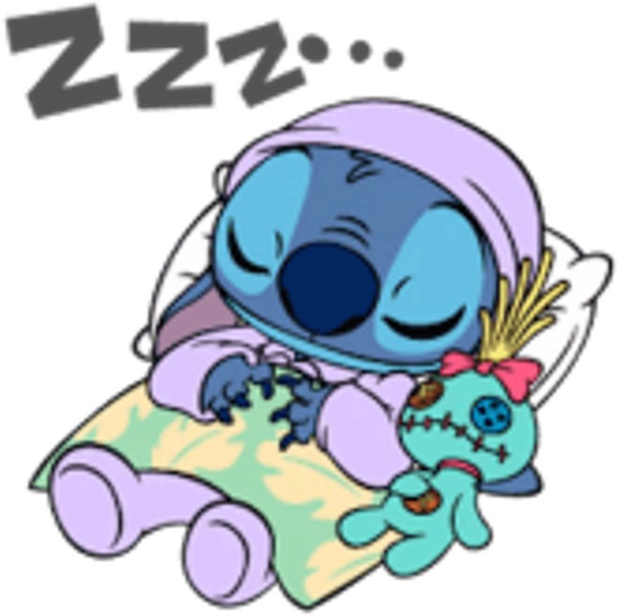 Buenas noches clipart clip art royalty free Stitch Sleep Cute Sleeptogether Disney Disneycute Liloa - Buenas ... clip art royalty free