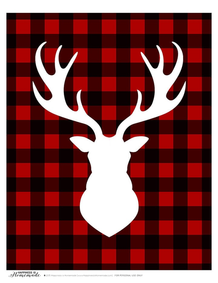 Buffalo check christmas clipart png transparent Buffalo Check Plaid Printable Gift Tags - Happiness is Homemade png transparent