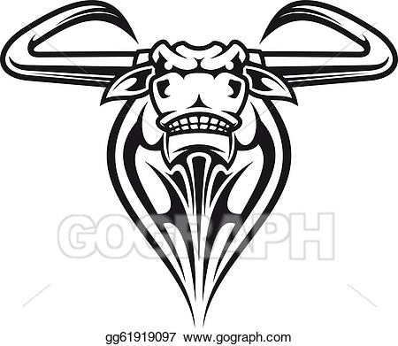 Buffalo head mascot clipart jpg library stock Vector Stock - Wild buffalo mascot. Clipart Illustration gg61919097 ... jpg library stock