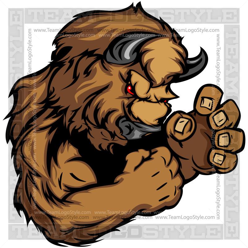 Buffalo head mascot clipart jpg free library Buffalo Mascot Clipart jpg free library