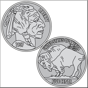 Buffalo nickel clipart picture transparent library Nickel Clipart Group with 77+ items picture transparent library