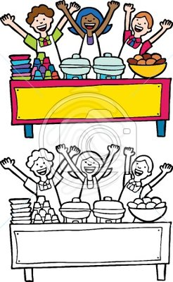Buffet table clipart banner library Clip art: Buffet Table | Clipart Panda - Free Clipart Images banner library