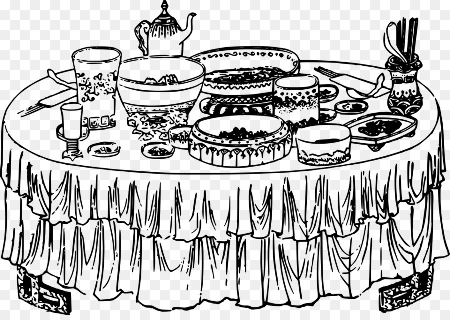 Buffet table clipart picture black and white download Home Cartoon png download - 960*673 - Free Transparent Buffet png ... picture black and white download