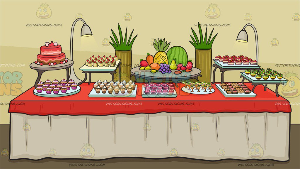 Buffet table clipart svg royalty free library A Dessert Buffet Table Background svg royalty free library