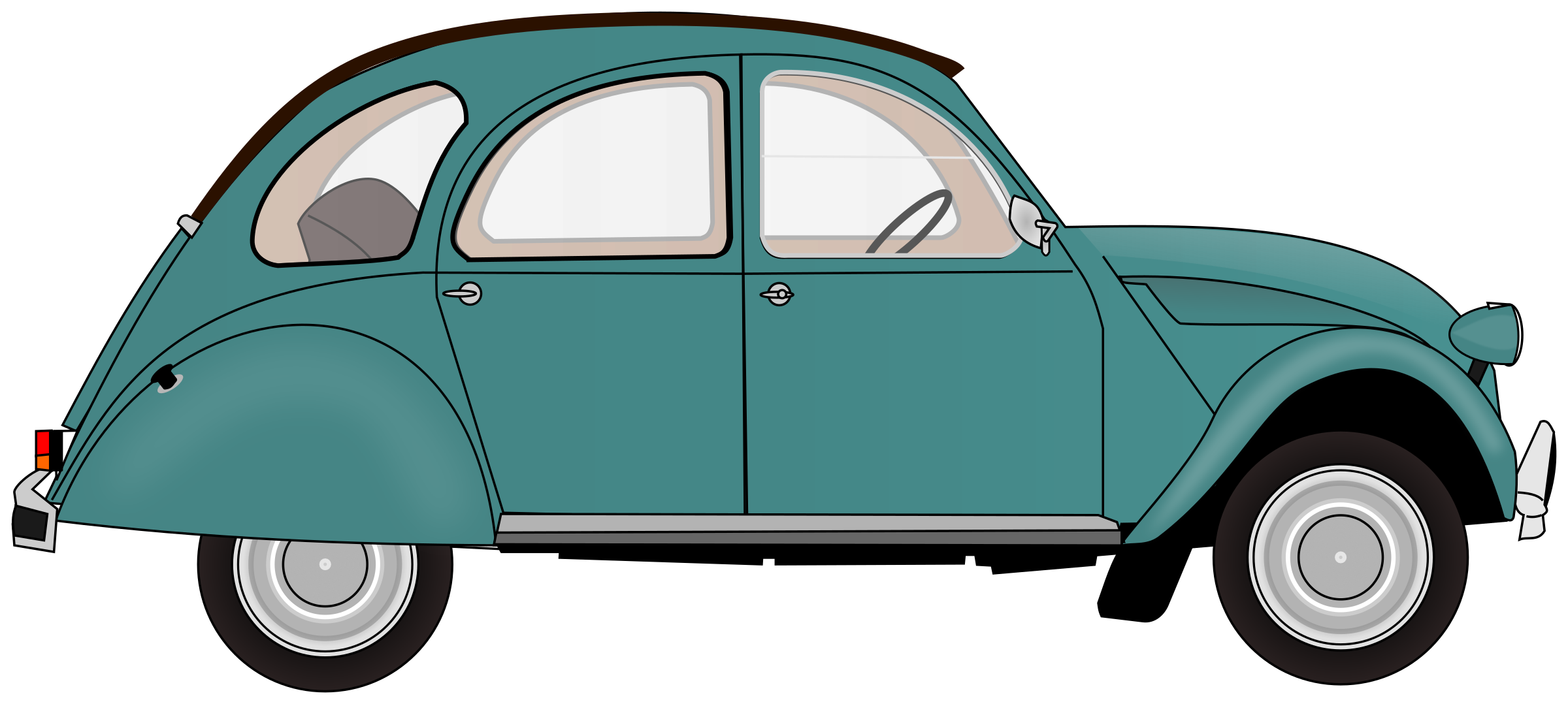 Bug car clipart banner library stock Clipart - 2CV banner library stock