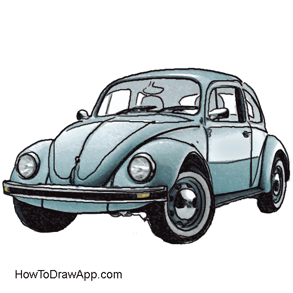 Bug car clipart jpg download Vw Bug Drawing at GetDrawings.com   Free for personal use Vw Bug ... jpg download