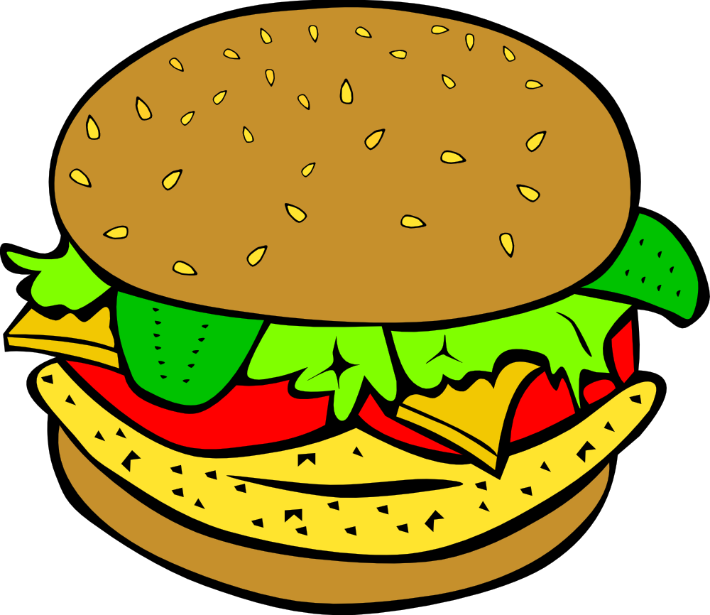 Burger and sandwich clipart image black and white download Free Burgers Cliparts, Download Free Clip Art, Free Clip Art on ... image black and white download
