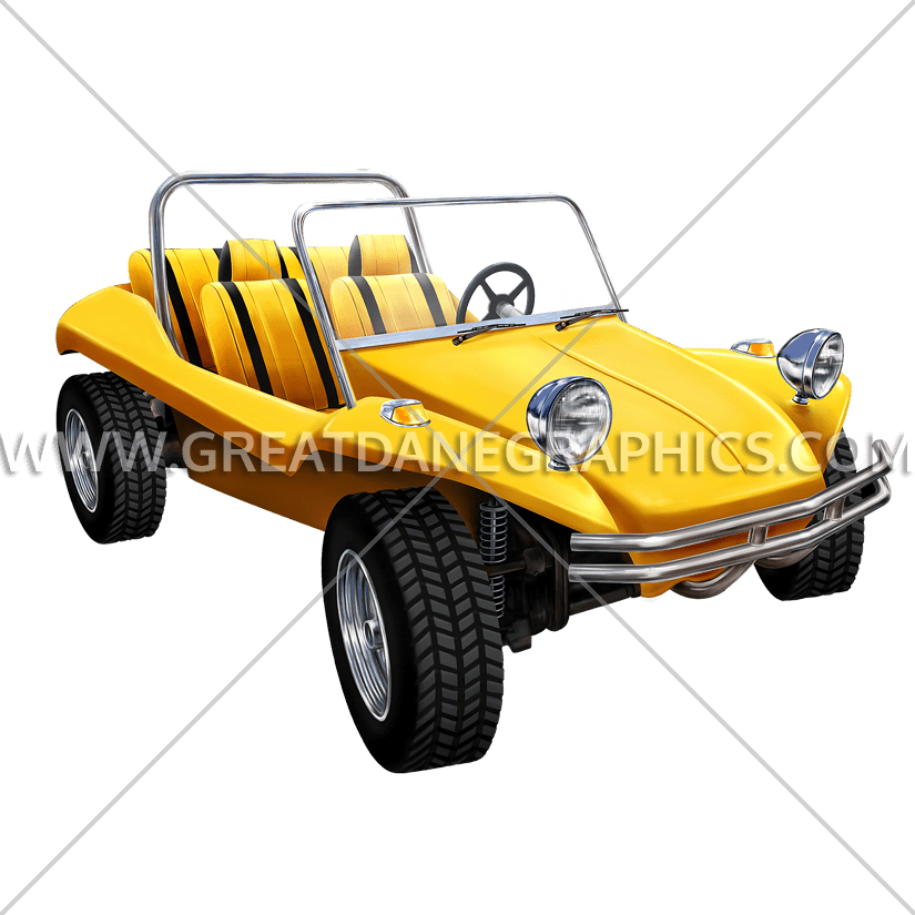 Buggy car clipart image free download Yellow Dune Buggy | Production Ready Artwork for T-Shirt Printing image free download