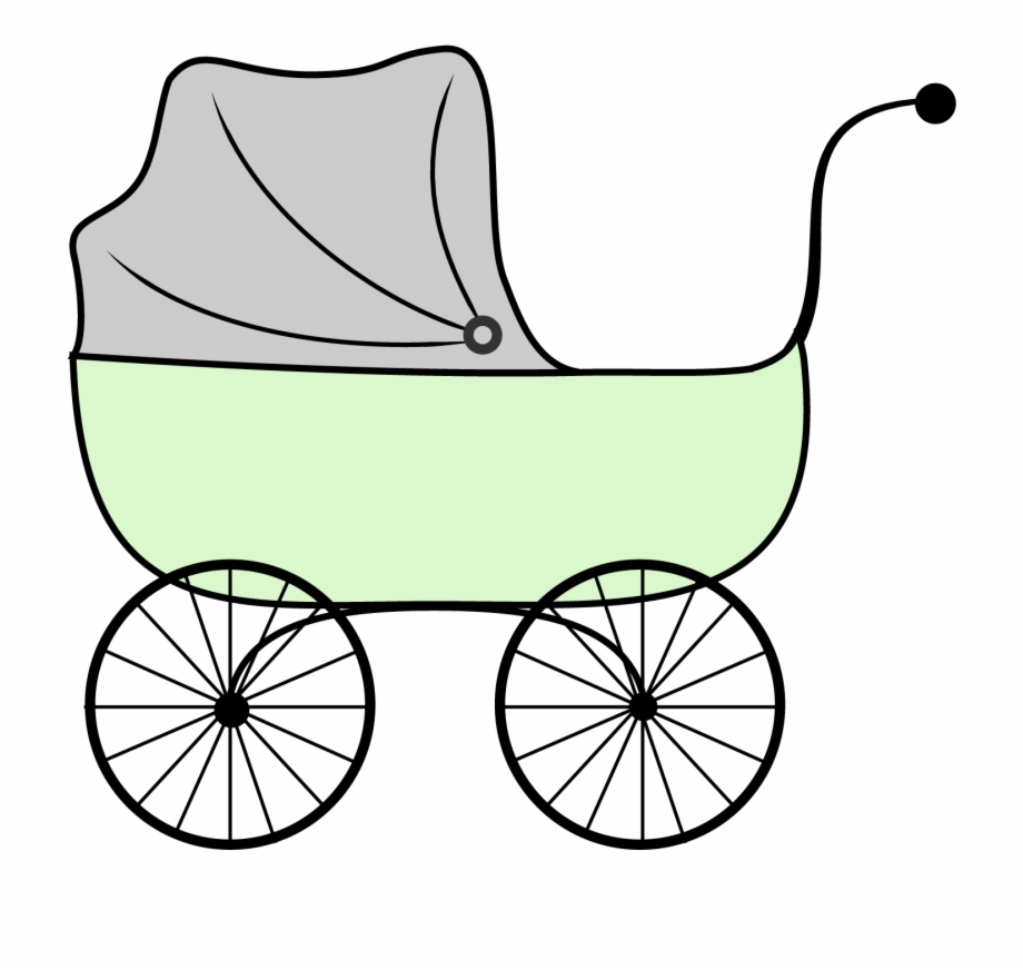 Clipart baby carriage black and white stock Baby Carriage Baby Shower - Clipart Stroller Free PNG Images ... black and white stock