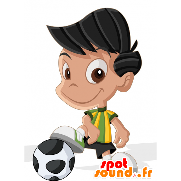 Football mascots clipart png free download Purchase Mascot little boy dressed in football wear in 2D / 3D mascots png free download