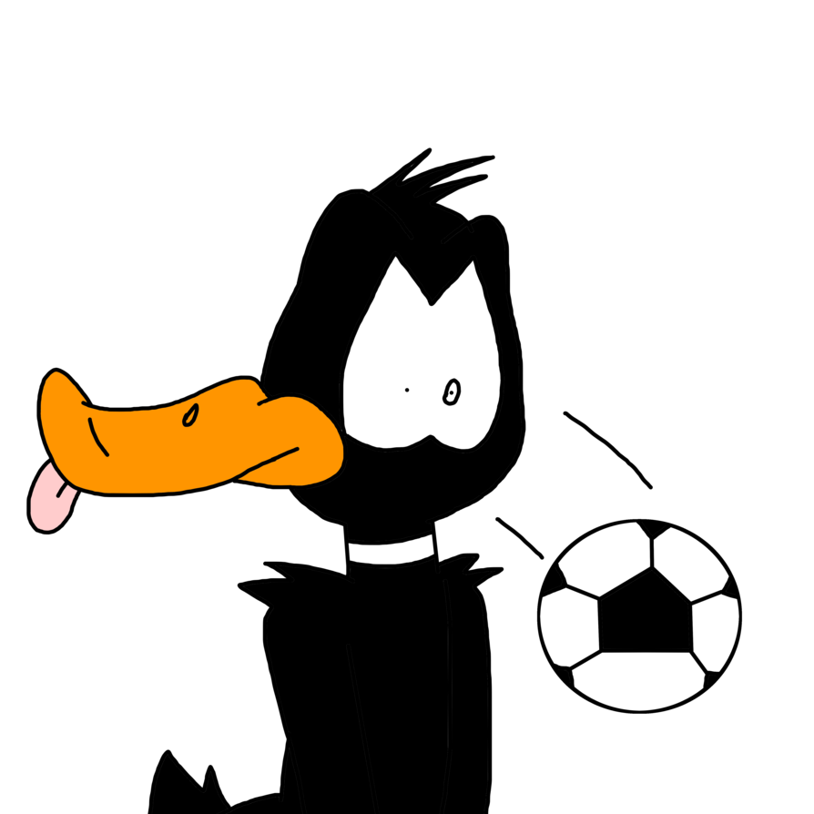 Bugs bunny football clipart vector library library Daffy Duck hit by a soccer ball by MarcosPower1996 on DeviantArt vector library library