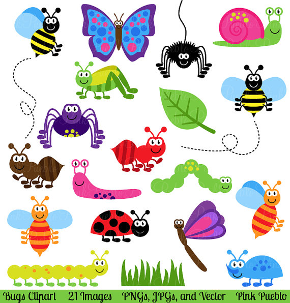 Bugs clipart free clip art transparent library Bugs Clipart Clip Art, Insects Clipart Clip Art Vectors - Commercial ... clip art transparent library