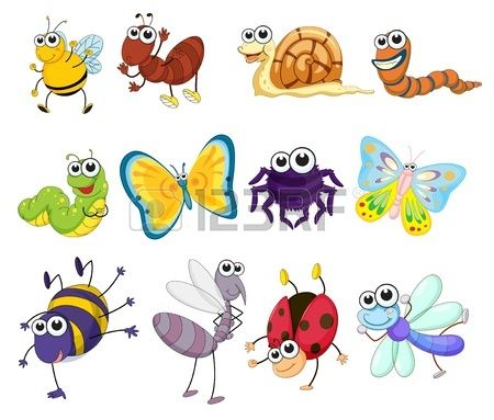 Bugs group clipart vector royalty free library Stock Vector | Drawing | Insects, Insect clipart, Animal drawings vector royalty free library