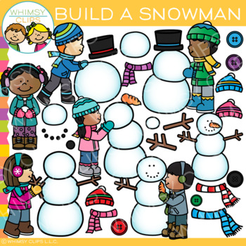 Build a snowman clipart graphic How to Build a Snowman Clip Art { Winter Clip Art } graphic